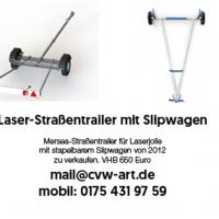 Laser-Straßentraile mit Slipwagen
